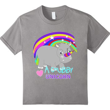 Tubby Unicorn Cute Fantasy Rainbow T-Shirts