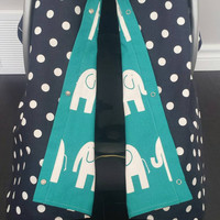 Infant car seat cover, Infant car seat canopy, Baby car seat canopy, Baby car seat cover, Carrier Cover, Infant Carrier, Chevron, polka dots