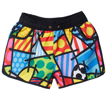 Women Printed Casual Shorts Summer Beach Swimwears