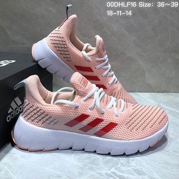 KUYOU A361 Adidas Tubular Shadow Flyknit Comfotable Running Shoes Pink
