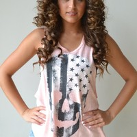 Piace Boutique - Skull Flag Tank in Tops
