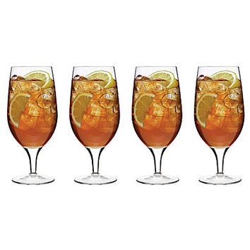 Noble Excellence Footed Iced Tea Glass, Set of 4