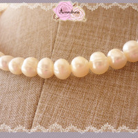 Bridal Necklace // Prom Party Pearl Necklace // Fresh Water Pearl Necklace