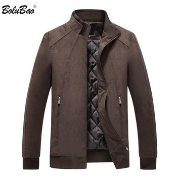 Trendy BOLUBAO Men's Jackets Coats 2018 Autumn Winter Brand Men Zipper Pocket Outerwears Slim Fit Male Bomber Jackets Coat AT_94_13