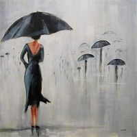Parapluie Square Painting