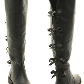 Strolling Through Paris Bow Back Boots - PRE ORDER