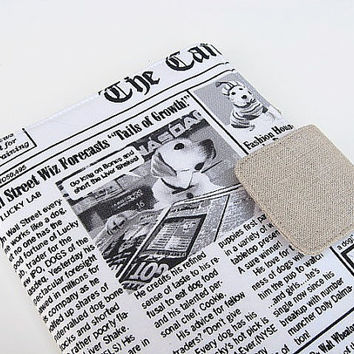 iPad Mini Cover Kindle Fire Cover Nook Simple Touch Cover Kobo Cover Case Dog Newspaper Canine Chronicle eReader