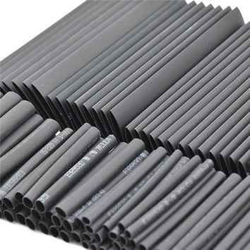 Brand New 127pc Black Heat Shrink Tube Assortment Wrap Electrical Insulation Cable Tubing