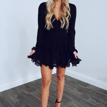 Thoughts Of You Dress: Black