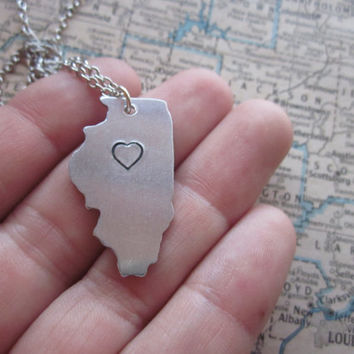 The Joyce Necklace - Illinois Love Pendant Necklace