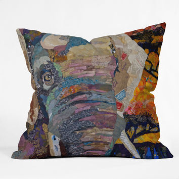 Elizabeth St Hilaire Nelson Elephant Throw Pillow