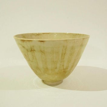 Pottery bowl, soup bowl, stoneware, light and thin, handmade,