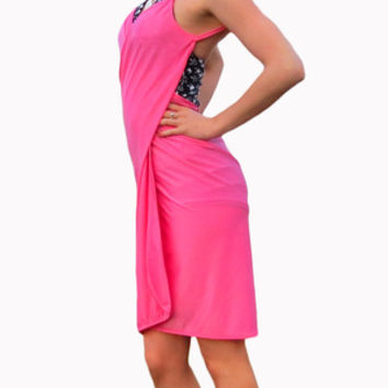 Pink Swimsuit Wrap Cover