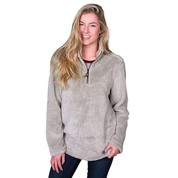 Pebble Pile Pullover 1/2 Zip in Faded Heather by True Grit