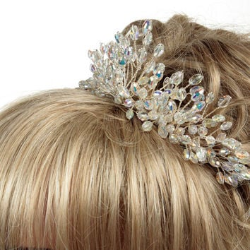 Swarovski Crystal Tiara, Wedding Tiara, Bridal Tiara, Tiaras For Weddings, Tiaras For Brides