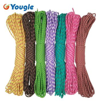 YOUGLE Paracord 550 Parachute Cord Lanyard Rope Mil Spec Type III 7 Stand 100FT Climbing Camping Equipment 95-101