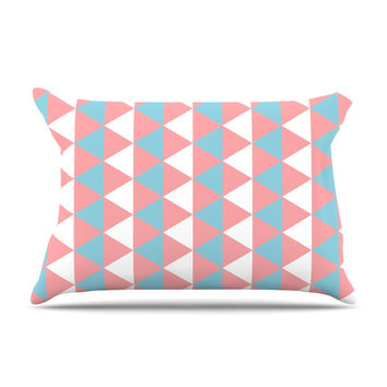 "KESS Original ""Be Still"" Blue Pink Pillow Case"