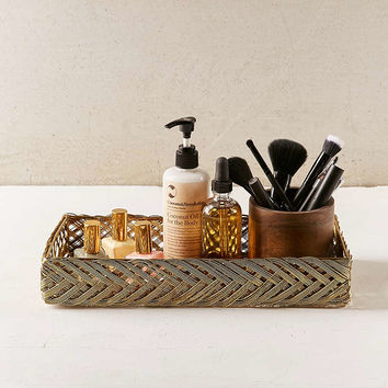 Leni Woven Catch-All Tray - Urban Outfitters