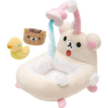San-X Rilakkuma Furniture Bath-tub for Plush Doll S Size