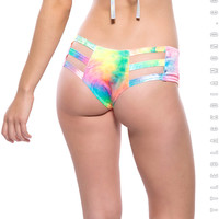 Bubble Tie Dye Velvet Cutout Bottoms