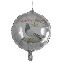 WHICH WAY IS HOME? FUN LOST PIGEON ART BALLOON