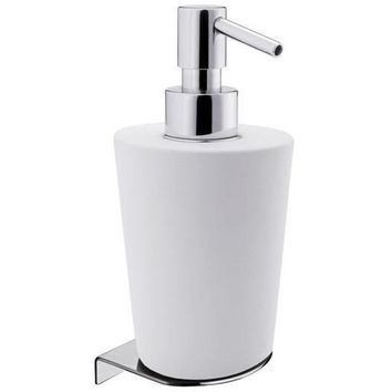 BA Elle Wall Mounted Ceramic Pump Soap Lotion Dispenser Bath or Kitchen - Brass