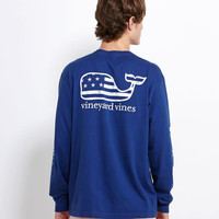 Men's T-Shirts: Long-Sleeve Flag Whale Graphic T-Shirt – Vineyard Vines