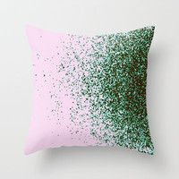 mixed with love Throw Pillow by Marianna Tankelevich