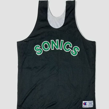 Seattle Sonics Champion Basketball Jersey Size XXL