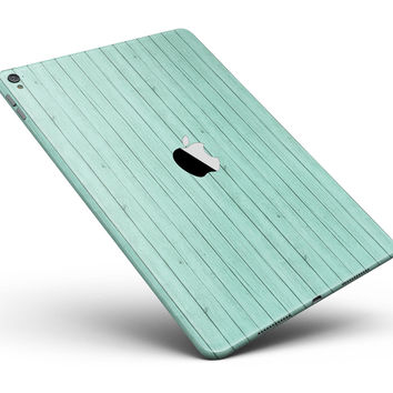 "The Mint Green Wood Planks Full Body Skin for the iPad Pro (12.9"" or 9.7"" available)"