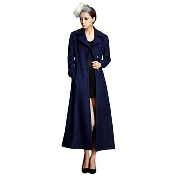 Single Breasted Maxi Coat with Belt