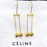 CELINE New fashion long earring accessory Golden