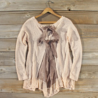 Lace & Tie Sweater