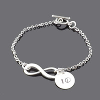 One Direction - infinity bracelet - Directioner-1D -one direction bracelet -personalized initial