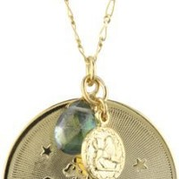 "a.v. max ""Horoscope"" Leo Coin and Teardrop Stone Pendant Necklace"