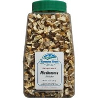 Harmony House Foods Dried Shiitake Mushrooms, diced (3.5 oz, Quart Size Jar) for Cooking, Camping, Emergency Supply, and More