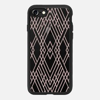 Map Mirror Outline Rose Gold iPhone 7 Case by Project M | Casetify