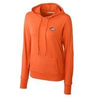 Cutter & Buck Denver Broncos Possession Dolman Sleeve Tri-Blend Hoodie - Orange