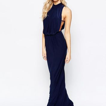 Love | Love High Neck Draped Maxi Dress at ASOS