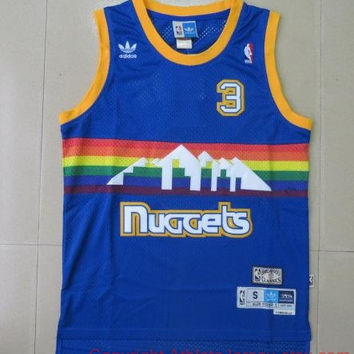 Allen Iverson 3 Denver Nuggets NBA Basketball Jersey Allen Iverson Denver Nugget
