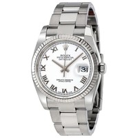 Rolex Oyster Perpetual 36 mm White Dial Stainless Steel Rolex Oyster Automatic