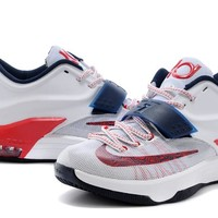 "2017  Nike Zoom KD 7  Kevin Durant 7 Ⅶ  ""Independence Day""  Basketball Shoes"