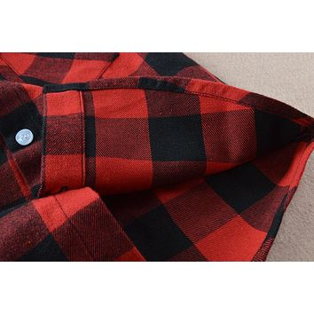 Cotton Fashion Boys Shirt New Kids Plaid Shirts Long Sleeve School Casual Children Autumn Clothes