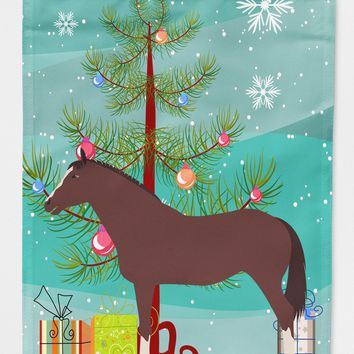 English Thoroughbred Horse Christmas Flag Canvas House Size BB9280CHF