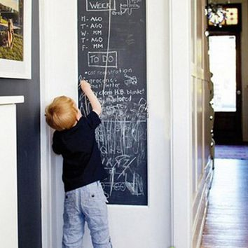 Vinyl Chalkboard Wall Stickers Removable Blackboard Self-Adhesive Blackboard Draw Mural Decals Art Chalkboard Great Gift for Kid
