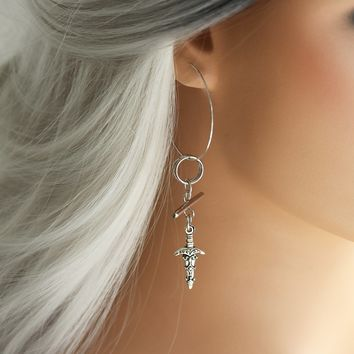 Shop Dixi Boho Earrings | Fight to the death Earrings Silver