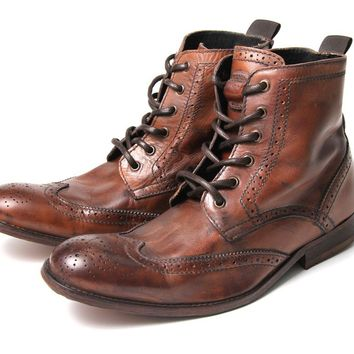 Men's Angus (Tan) Leather Ankle Boots | H by Hudson
