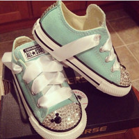 Mint Green Baby Custom Chucks