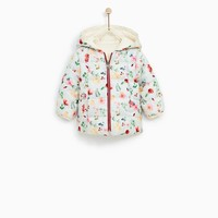 REVERSIBLE QUILTED JACKET WITH FLORAL PRINT