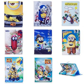 Newest Case For Apple iPad mini 1 2 3 mini 2 mini 3 case Stand Cover Shell Despicable Me 3 Minion Character Cartoon